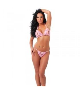 Rimba Amorable Bikini Abierto Color Rosa Talla unica